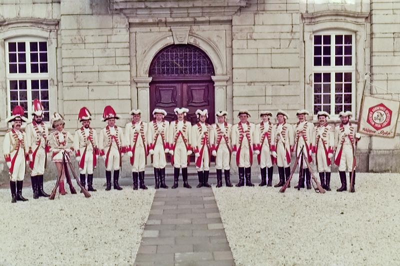 Die Aufnahme zeigt die Prinzengarde bei ihrem Einkehrtag im Kloster Marienstatt.