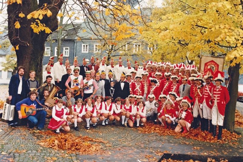 125 Jahre Wesser Fastowend. Die Wissener Karnevalsgesellschaft im Jubiläumsjahr 1981. Foto: Matthias Ketz