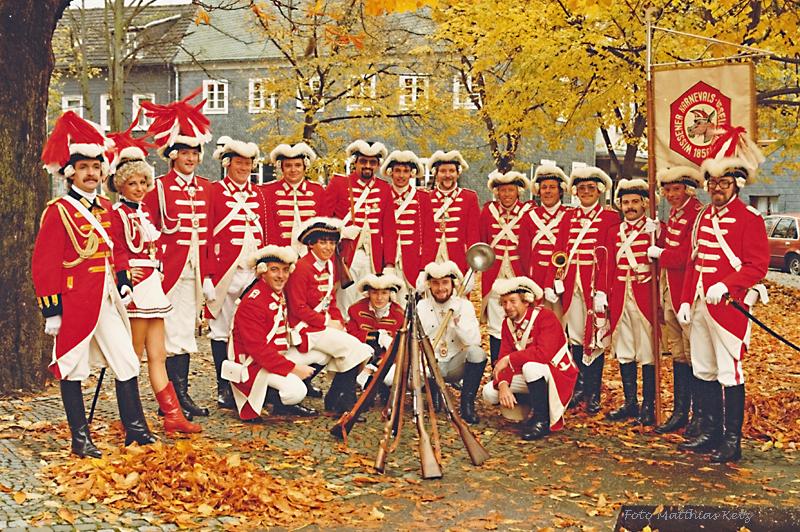 Die Prinzengarde 1981 im Jubiläumsjahr. Foto: Matthias Ketz