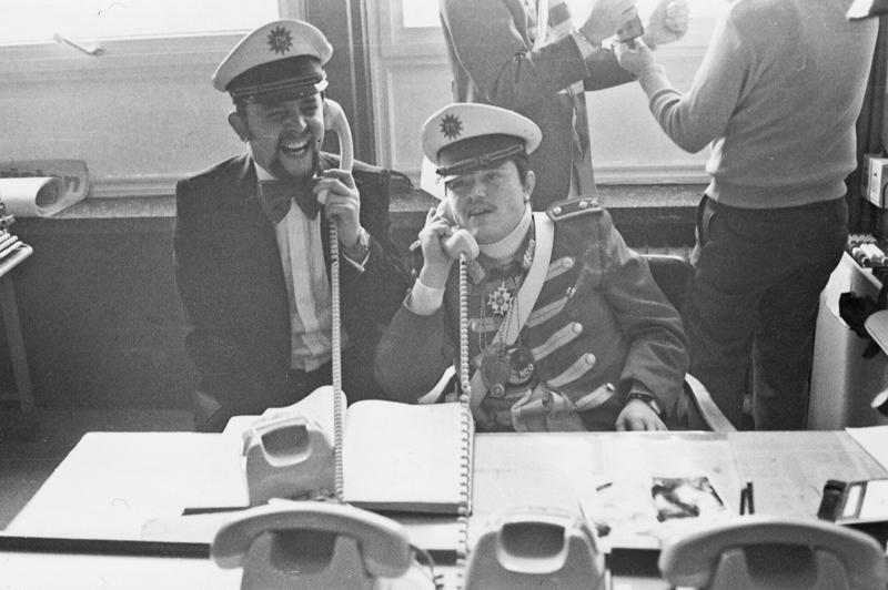Die Prinzengarde übernimmt an den närrischen Tagen die damalige Wissener Polizeiwache.
