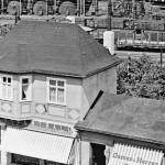 Wissen in der Nähe des Bahnhofs um 1940
